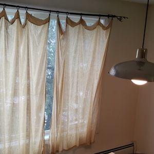 Pottery barn curtain panels